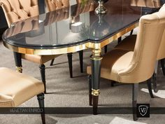 Luxury Dining Room Furniture Sets & High End Dining Tables Dining Table Design, Modern Dining Table, Round Dining Table, Luxury Dining Chair, Dining Room Furniture, Dining Chairs, Furniture Stores, Wooden Furniture, Luxury Furniture