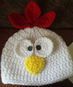 Newborn Chicken & Diaper Cover Outfit - Baby Chicken Hat - Baby Chicken Set - Crocheted Chicken -baby photo prop - Chicken photo prop by KreativeJourney on Etsy