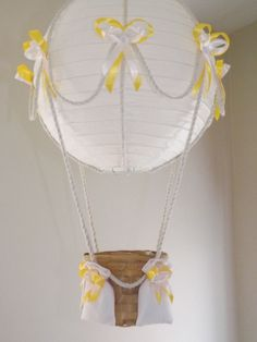 Hot Air Balloon Lamp/light shade - going to try to make this!
