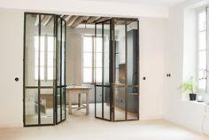 Id e s paration de pi ce portes vitr e salon david for Portes coulissantes vitrees interieures