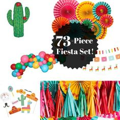 ❤ Fiesta Party Pack ❤ WHATS INCLUDED: 8 Paper Fans: inch fans, inch fans, inch fans, and inch fans. Each fan has an adhesive strip for permanent use, or a paper clip for temporary use. Each fan has a string attached for hanging. Mexican Birthday Parties, Mexican Fiesta Party, Fiesta Theme Party, Taco Party, First Birthday Parties, 3rd Birthday, Mexican Candy, Mexican Desserts, Birthday Favors