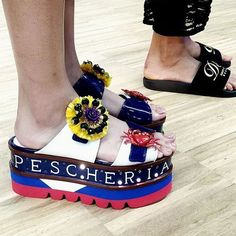 Let your feet do all the talking in these fabulous flatforms @dolcegabbana show #ss17 #milan #hellofashion #bloggers @michmcquillan