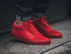 Image result for all red vans