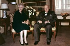 Sir Winston and Lady Clementine Churchill Clementine Churchill, Chancellor Of The Exchequer, British Prime Ministers, British Bulldog, Famous Couples, England And Scotland, Winston Churchill, World Leaders, British History