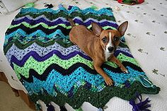 "Ravelry: 6-Day Kid Blanket pattern by Betty McKnit (Look at the pictures in ""projects"".  There are some really great color combos there.)"