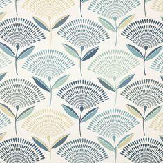 Dandelion Curtain Fabric - colonial - Terrys Fabrics UK
