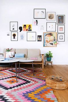 Colourful rugs to Accentuate Your Home: a rug really DOES tie the room together!