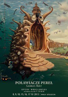 The Pearl Fishers, Bizet, Polish Opera Poster