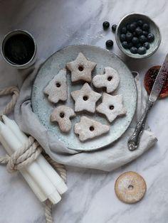 Linecké bezlepkové pečivo - My Sweet Fairytale Gluten Free, Cookies, Chocolate, Winter, Desserts, Christmas, Food, Basket, Glutenfree