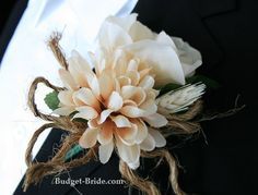 Red Rose Boutonniere with Hydrangea