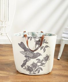 Another great find on #zulily! Gray Bird Free Standing Hamper #zulilyfinds