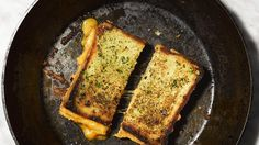 Garlic Bread-Grilled Cheese Combines Two Beautiful Things | Bon Appetit