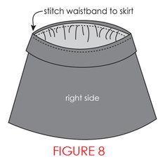 Yoga Skirt Tutorial Waistband 15 x 15 Length 22 Shorten folded width by 3 inches. Next time shorten by 5 inches