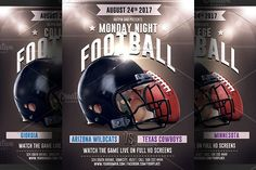 Football Game Flyer Template 2 by Hotpin on @creativemarket