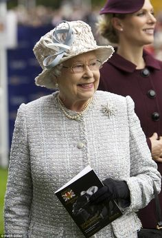 Here come the royals: Queen Elizabeth and Zara Phillips were among the royal members who attended the race