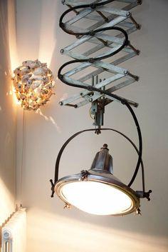vincent darre - interior and furniture designer at his home and store - paris LAMP! I love this lamp