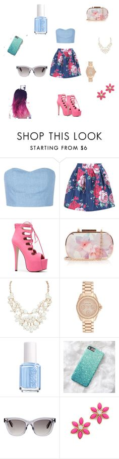 """summer outfit #2"" by sushi-brain ❤ liked on Polyvore featuring Julien David, Oasis, Michael Kors, Essie, Valentino, Kate Spade, women's clothing, women, female and woman"
