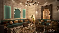 Interior Design  Moroccan sitting room , In Saudi Arabia  ,Auto-desk 3D Max 2014 .. Adobe Photo-shop CS 6 ..