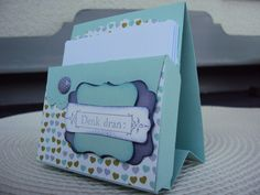 Nice way to get a little scallop envelope box to stand up