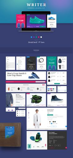 Writer is a blog & ecommerce UI Kit crafted in Photoshop. This kit includes  60+ UI components, and 500+ UI elements. It is well organized & easy to customize, this UI Kit is a must for your next basic project.