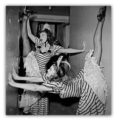Folies Bergère 1950's. Photo by Jacques Rouchon.