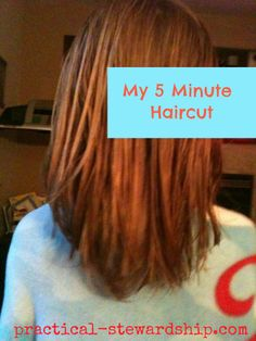 Fast, easy haircut for long hair - just did this for my 3 girls (and myself!) Works great!
