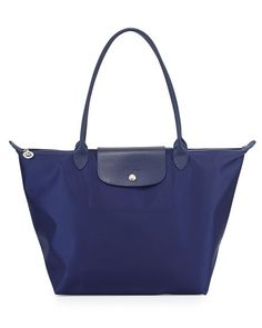 Longchamp Le Pliage Neo Large Nylon Shoulder Tote Bag, Navy $190.00