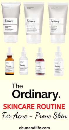 Do you have an acne-prone skin and have been looking for the best products to use? Try The Ordinary Skincare Routine Acne. #theordinaryskincare #beautyhacks #acneremedies #acnetreatment #clearskin #healthyskincare #acnescarstreatment #acneproducts #oilyskintips