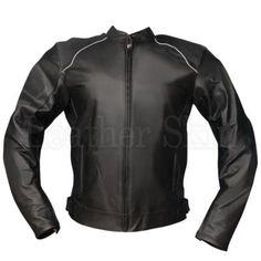 NWT Black Jacket with White shoulder lining Motorcycle Biker Leather J - Leather Skin Shop Men's Leather Jacket, Leather Skin, Biker Leather, Black Leather, Leather Jackets, Motorcycle Leather, Jacket Men, White Shoulders, Scorpion