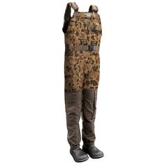 Drake Waterfowl MST Eqwader Old School Camo Waders - Stout - Wing Supply