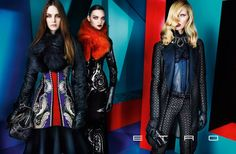 Iselin Steiro, Magda Laguinge & Laura Love Star in Etros Fall 2012 Campaign by Mario Testino