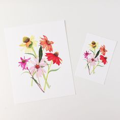 I created some prints from my newest painting and they're available now in my Etsy shop.