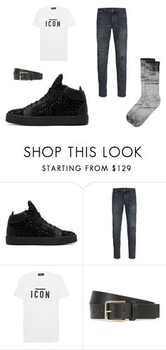 """""""Icon"""" by cargo-92 on Polyvore featuring Giuseppe Zanotti, Jack & Jones, Dsquared2, Paul Smith, men's fashion and menswear"""