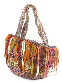 ウールとヘンプのハンドバッグの写真1