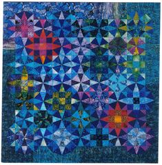 Kaleidoscope combined with 9-patch.  Jenny Bowker - quiltmaker and textile artist - Playing with kaleidoscopes.  Lovely!