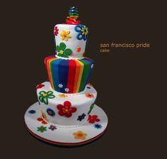 San Francisco wedding cake, l-o-v-e-l-y