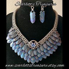 Beaded Jewelry, Handmade Jewelry, Jewellery, Unique Jewelry, Chainmaille, Jewelry Sets, Jewelry Making, Scale Mail, Dragon Scale