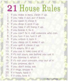 great ideas for your family house rules