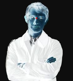 optical illusion!! stare at the red dot for 40 seconds then look at a white wall.