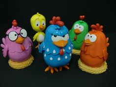 turma galinha pintadinha em biscuit - Pesquisa Google