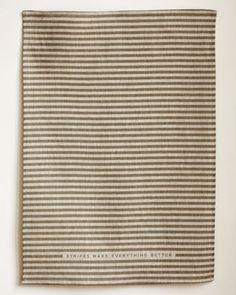 'stripes make everything better' :) Linen Tea Towel  Best Stripe in Slate by STUDIOPATRO on Etsy, $24.00