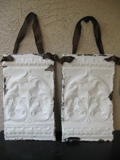 salvage decor | Fleur De Lis Architectural Salvage Wall Hanging Decor \/ 2pc Set ...