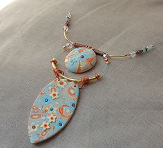DSC_0050, via Flickr. by Dumauvobleu - great use of color and wire choice complements pendants perfectly