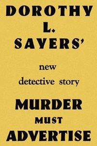 Cover image for the first edition of Dorothy Sayers' novel, Murder Must…
