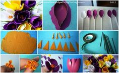 Crocuses from polymer clay for beginners