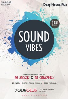 Sound Vibes Free Flyer Template - http://freepsdflyer.com/sound-vibes-free-flyer-template/ Enjoy downloading the Sound Vibes Free Flyer Template created by Stockpsd!  #Club, #Dance, #Dj, #Electro, #Mixtape, #Nightclub, #Party, #Techno, #Trance, #Urban