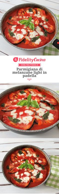 Parmigiana di melanzane light in padella Cena Light, Appetizer Recipes, Appetizers, Light In, Thai Red Curry, Vegetarian Recipes, Food Porn, Pasta, Meals