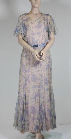 Dress - Floral Cotton Voile, circa 1930s
