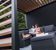 Create your very own garden lounge with SunSpaces! Our garden rooms (available in glass or polycarbonate) make the perfect spot to relax and unwind. Outdoor Rooms, Outdoor Decor, Patio Enclosures, Lounge Design, Planning Permission, Backyard Pergola, Extra Rooms, Flat Roof, Sit Back