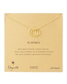 Three-Ring Karma Necklace by Dogeared at Neiman Marcus.